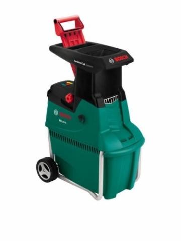 Bosch DIY Leisehäcksler AXT 25 TC, praktischer Stopfer, Fangbox, Karton (2500 W, Materialdurchsatz 230 kg/h, max. Schneidekapazität-Ø 45 mm) -