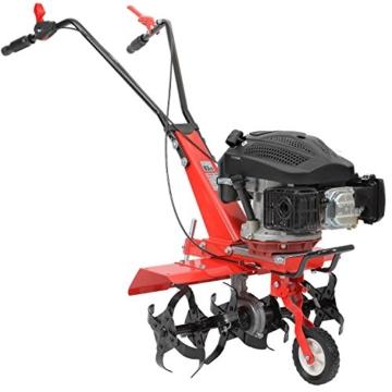 HECHT Benzin-Gartenfräse 746 Motor-Hacke Boden-Fräse Kultivator (5,1 PS Motorleistung, 36 oder 60cm Arbeitsbreite, 6 Kreisel mit je 4 Zinken) -